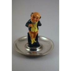 Royal Doulton M41 Mr Pickwick Miniature on Silver tray