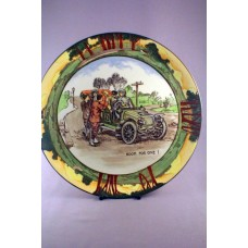 "Royal Doulton Early Motoring ""Room For One"" Seriesware Rack Plate D2406"