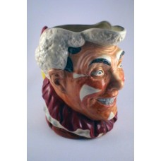 "Royal Doulton White Haired Clown Character Jug - 6.25"" (Large)"