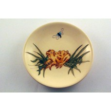Moorcroft Pottery Frog and Dragon Fly Pin DIsh - Perfect